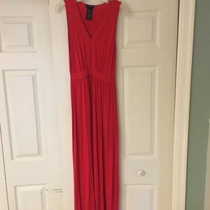 Stunning Red Sleeveless Maxi Dress